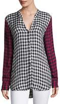 Joie Women's Dane Plaid Button-Front Top - Size xxs [xx-small]