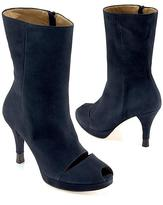 Suede Cut-Out Boot, Navy