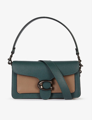Coach Tabby colour-blocked pebbled leather shoulder bag