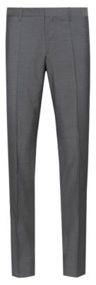 HUGO Slim-fit trousers in textured virgin wool