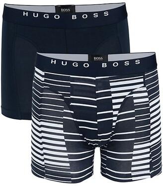 HUGO BOSS 2-Pack Printed Stretch-Cotton Boxer Briefs