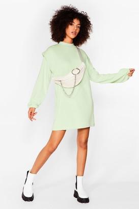 Nasty Gal Womens Get Bold Sweater Mini Dress - Sage