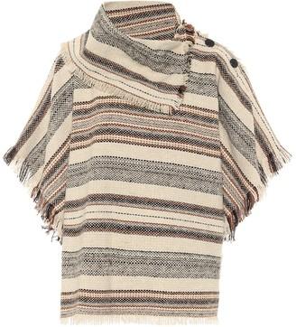 Etoile Isabel Marant Jacoya striped tweed poncho