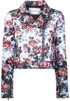 Mary Katrantzou 'Solar Rose' print biker jacket