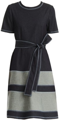 Carolina Herrera Stretch-Denim Tea Dress