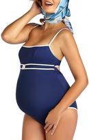 Pez D'or Navy Rimini Piqué Maternity One-Piece