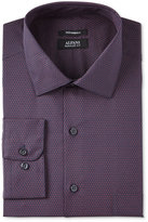 Alfani Men's Classic-Fit Performance Boldberry Double Circle Print Dress Shirt, Only at Macy's