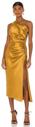 Mason by Michelle Mason Asymmetrical Gathered Dress