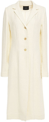 Joseph Cierra Frayed Tweed Coat