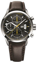 Raymond Weil Mens Stainless Steel Mechanical Chronograph Watch with Leather Strap