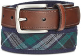 Club Room Men's Plaid Belt, Created for Macy's