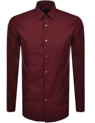 HUGO BOSS Boss Business Slim Fit Isko Shirt Red
