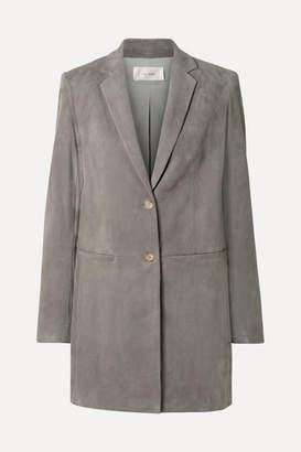 The Row Batilda Oversized Suede Jacket - Gray