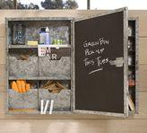 Galvanized Metal Chalkboard Cabinet