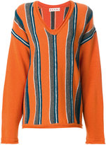 Marni oversized striped sweater