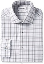 Calvin Klein Men's Slim Fit Non Iron Exploded Plaid Shirt