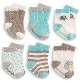 Elegant Baby Baby's Six-Piece Organic Cotton Sock Set