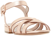 Dune Wide Fit Insley Cross Strap Sandals