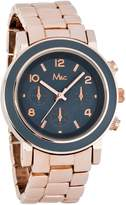 MC M&c Women's Trendy Chronograph Style Rose Gold Band Face Watch