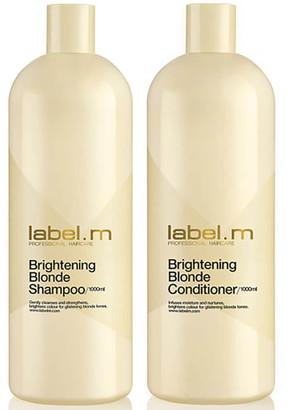 Label.M Brightening Blonde Shampoo and Conditioner 1000ml Duo (Worth 93.85)