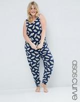 Asos Rocket Print Vest And Legging Pyjama Set