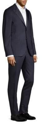 Boglioli Men's Slim-Fit Wool Tuxedo - Black - Size 48 (38) R
