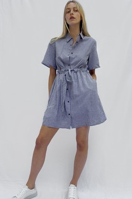 French Connection Gingham Shirt Dress