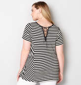 Avenue Striped Lace-Up Back Tunic