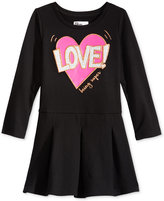 Epic Threads Hero Kids by Heart-Graphic Long-Sleeve Pleated Dress, Toddler Girls (2T-5T), Created for Macy's