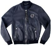 Philipp Plein Black Sheep Leather Sensei Bomber