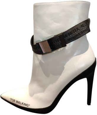 Off-White White Leather Boots