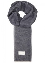 Oliver Spencer Rover Navy Cotton Twill Scarf