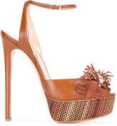 Casadei fringed strap platform sandals