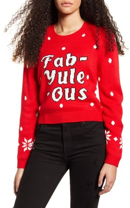 MinkPink Fab-Yule-Ous Holiday Sweater