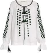 VITA KIN All Stars embroidered linen blouse
