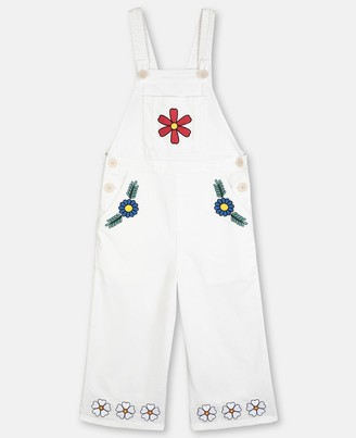 Stella McCartney flowers denim dungarees