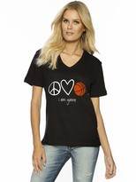 Peace Love World Peace Love Basketball V-Neck Tee