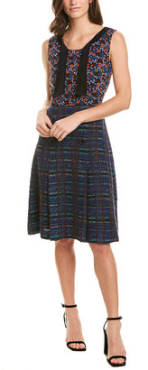 Anna Sui Braided Tweed Wool-Blend Sheath Dress