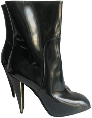 Louis Vuitton Green Patent leather Ankle boots