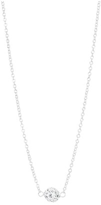 Dogeared Wishing Necklace, Pave Sparkle Ball Necklace