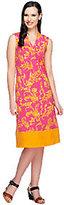Liz Claiborne New York Regular Border Print Knit Dress
