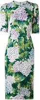 Dolce & Gabbana hydrangea print dress - women - Silk/Spandex/Elastane - 40