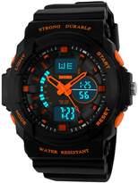 Mastop Outdoor Sport Digital Girls Watch Multifunctional Waterproof Quartz Black Rubber Strap Boy Watch