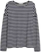 H&M Striped Jersey Top