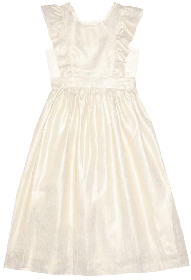 Bonpoint Canelle metallic linen dress
