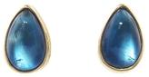 Jamie Joseph Smooth Rainbow Moonstone Teardrop Stud Earrings