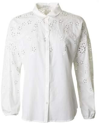 Silvian Heach Cut Out Detail Shirt Colour: WHITE, Size: SMALL