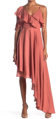 Do & Be Flutter Sleeve High/Low Maxi Dress