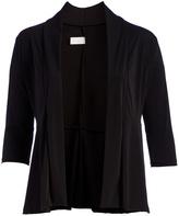 Glam Black Three-Quarter Sleeve Open Cardigan - Plus