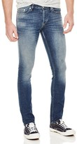 Sandro Pixies Sand Wash Destroy Slim Fit Jeans in Blue Vintage
